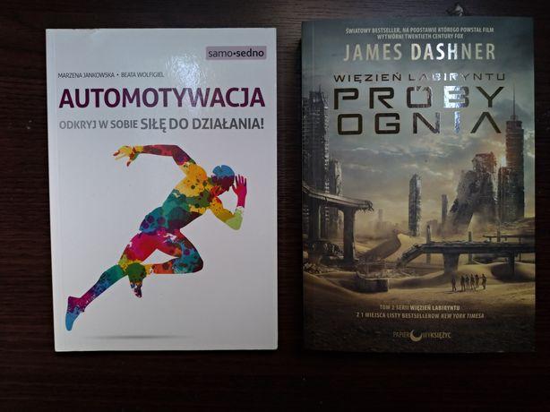 Książki na sprzedaż - więzień labiryntu (próby ognia), automotywacja