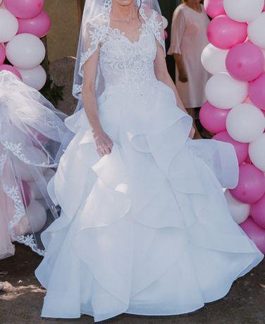 Piękna Suknia Ślubna Rozmiar 34-36