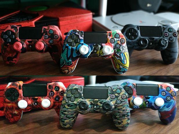 PS4 СУПЕР НАБОР - 3в1 для геймпада ! Чехол,стики,курки для DualShock 4