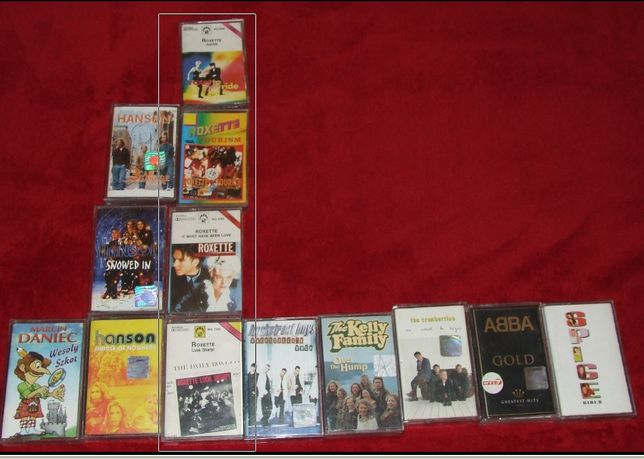 Kasety Magnetofonowe Roxette album różne cztery - wysyłka