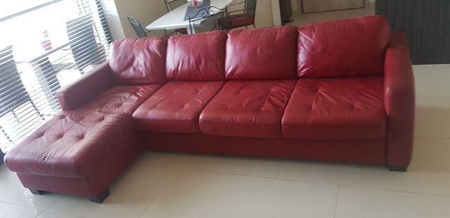 Sofa narożna skórzana