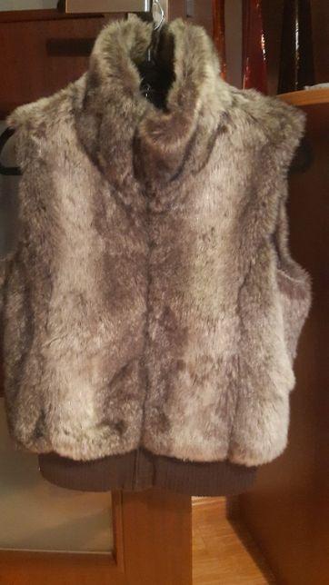 kamizelka futrzana brązowa