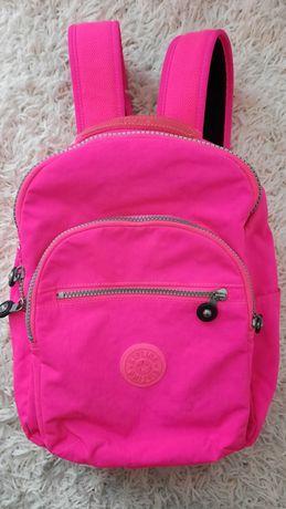 Kipling plecak plecaczek neonowy róż jak nowy