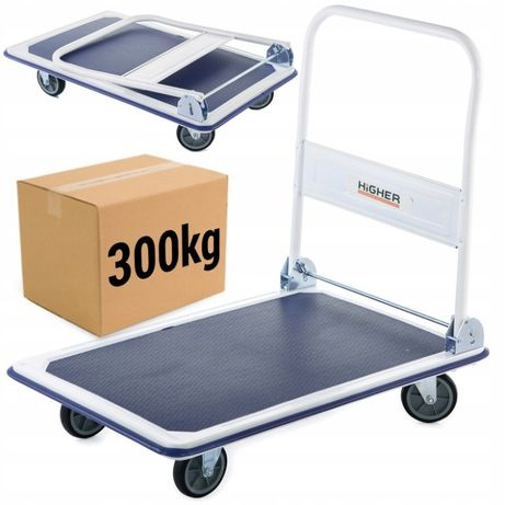 Wózek platformowy transportowy magazynowy 300kg # Mocne Promocja -30%