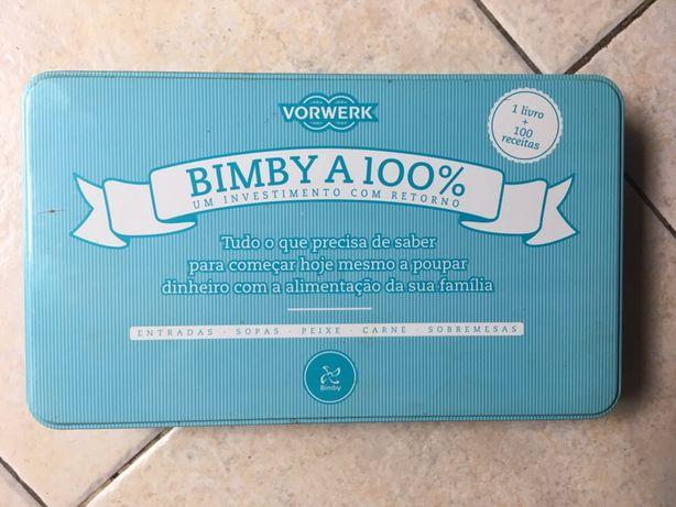 Bimby - caixa com 100 fichas de receitas e livro