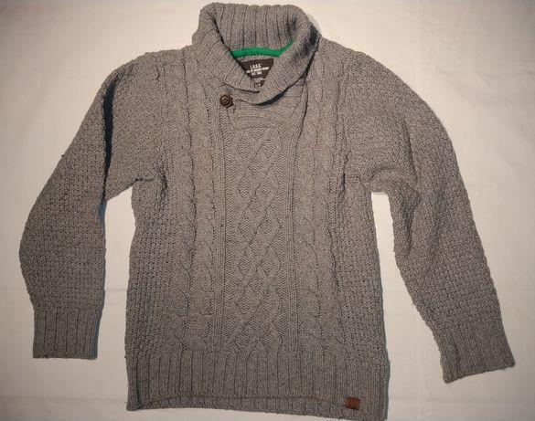 Sweter chłopięcy H&M szary rozm 122-128