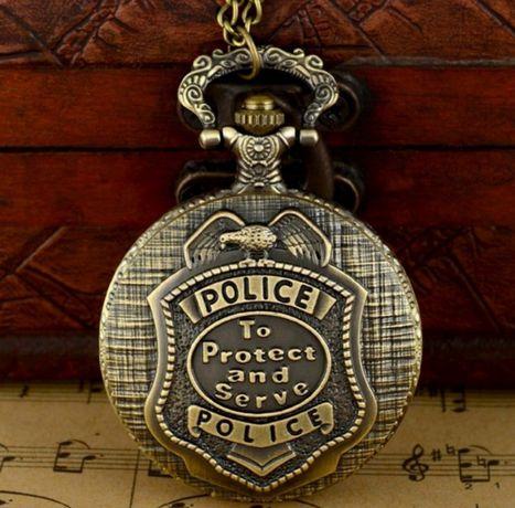 Relógio de Bolso Police da Quartz, Vintage em Bronze, NOVO e Selado.