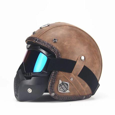Kask retro Voss Helmet, oldschool, na Harley Davidson , Triumph