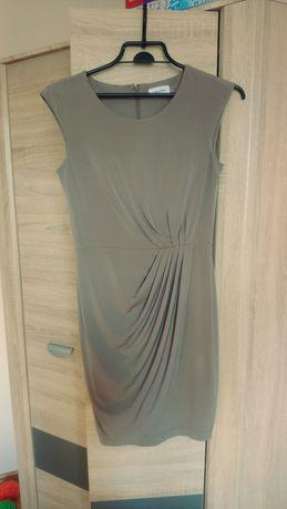 Sukienka Calvin Klein bez rękawów oliwka/khaki rozmiar 38