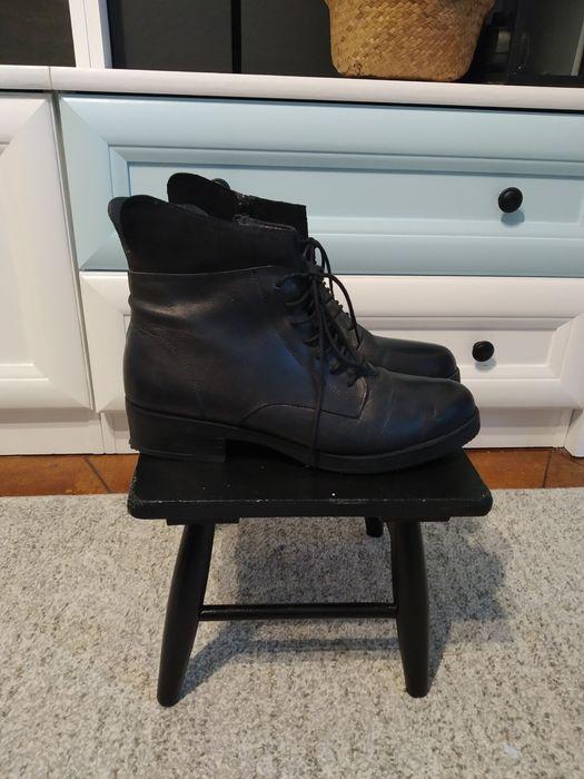 Buty skórzane, zimowo-przejsciowe damskie 41 Stalowa Wola - image 1