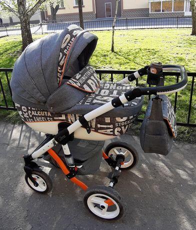 Универсальная коляска 2 в 1 Adamex BarlettaCityGrey