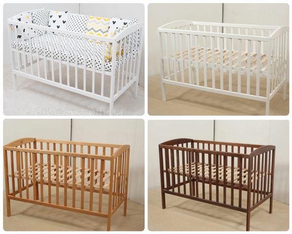 Новая детская кроватка для новорожденного 120*60. Бук
