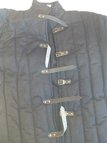 kurtka rycerska- przeszywanica, gambeson- rozmiar XL biała lub czarna