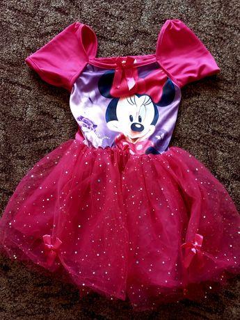 Sukienka z Myszka Minnie Karnawal r128