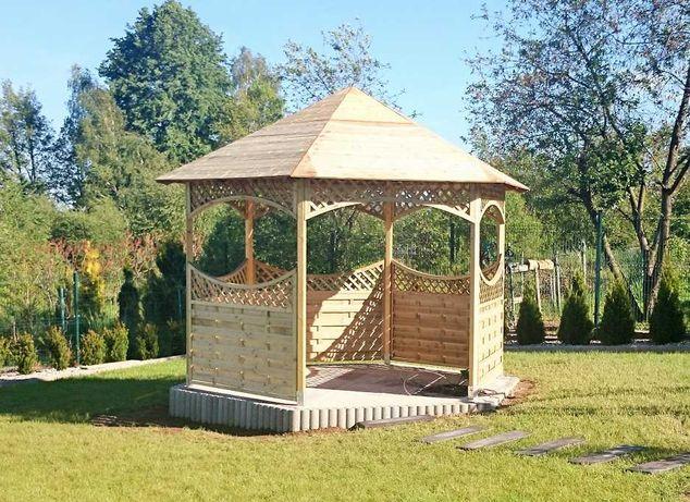 Pawilon sześciokątny drewniany altana ogrodowa producent!!!