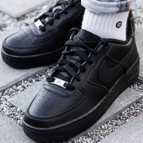 Кроссовки Nike air force 1 low Black/ Найк айр форс Lux качество 1:1