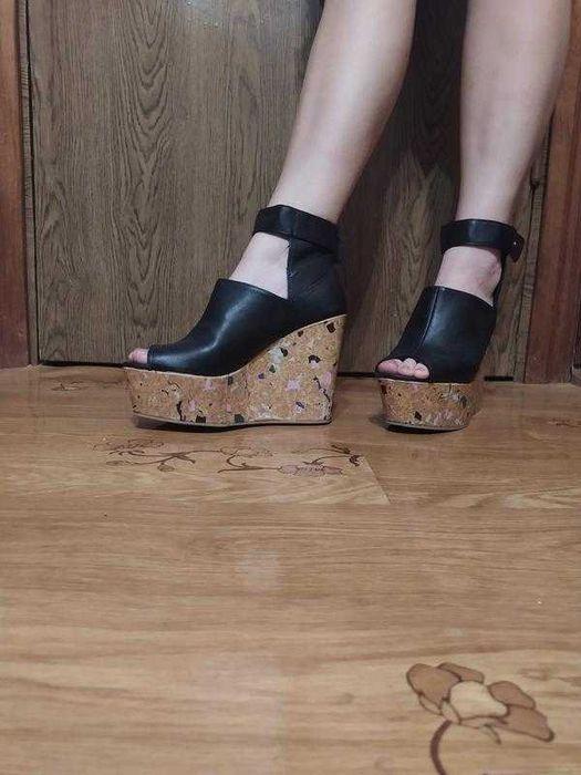 Стильные актуальные туфли от h&m на платформе с открытым носком 40р Тернополь - изображение 1