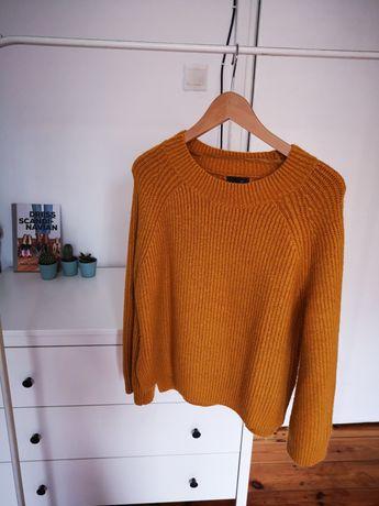 Musztardowy sweter primark 42 xl primark mustard sweterek