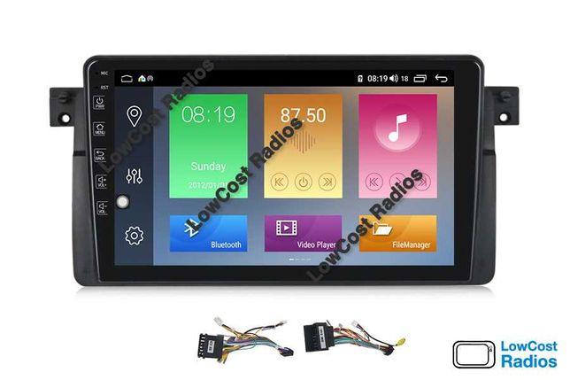 PROMOÇÃO: Rádio BMW E46 ANDROID 10 GPS Multimédia 2DIN — Wifi USB APPS