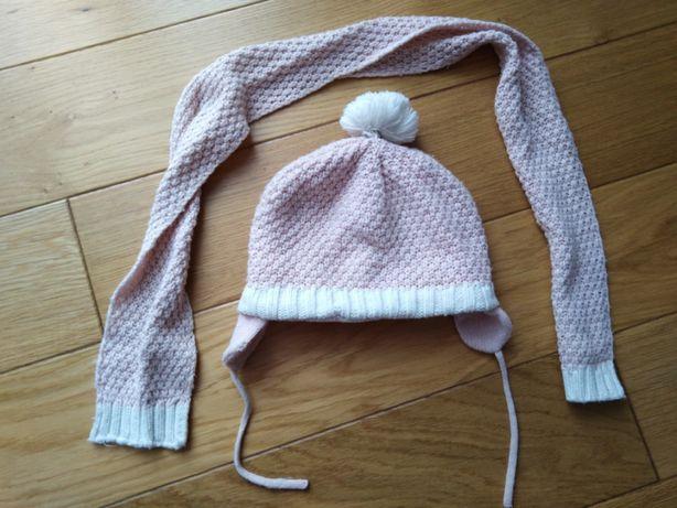Komplet zimowy czapka + szalik na ok 2 latka