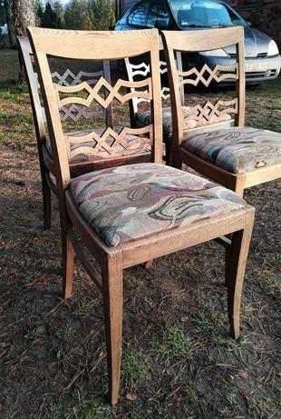 Art Deco Lata 30 Krzesła Gościcino Projektowe