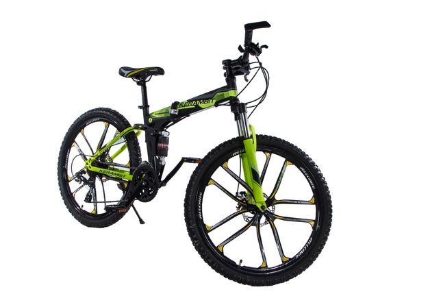 """Складной велосипед Kerambit на литых дисках 26"""", двухподвес, желтый"""
