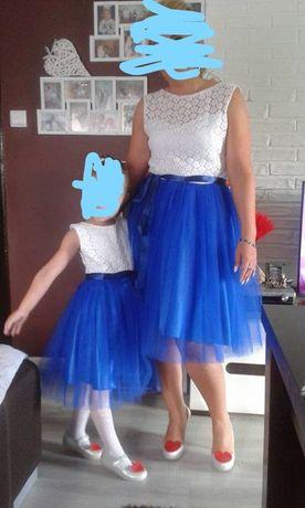 sukienka mama i córka S/M ,córka 4-6lat