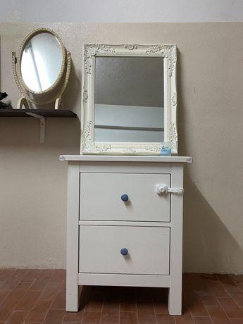 Mesinha de cabeceira HEMNES IKEA madeira branca