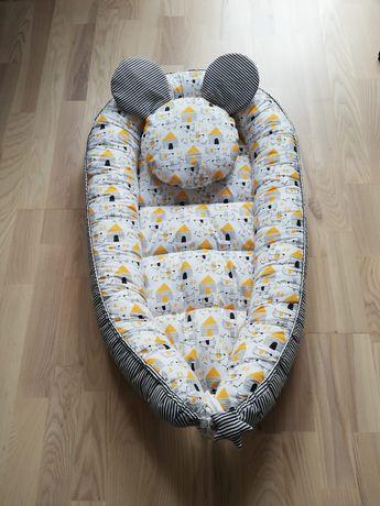 Dwustronny Kokon bawełniany z poduszką