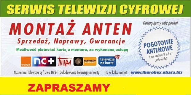 Anteny TV SAT ustawianie,montaż,naprawa.SERWIS:Chocianów