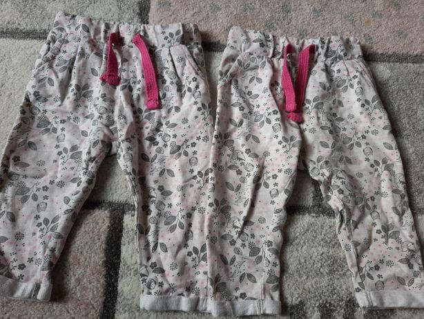Spodnie dresowe cool Club i 51015 dla bliźniaczek roz 68