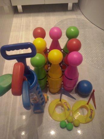 Zabawki-kręgle i mini golf.
