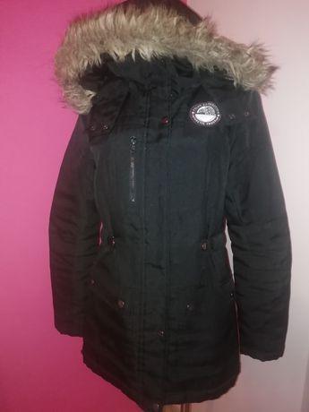 Vero moda kurtka czarna S M 36 38 zima zimowa jak nowa