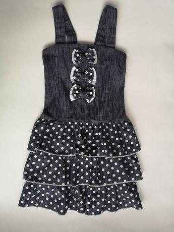 Sukienka 140, sukienka w kropki, sukienka, sukienka dziewczęca