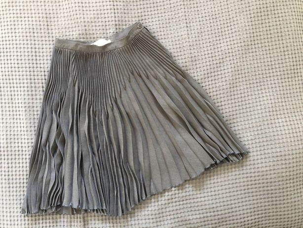 Spódnica ESCADA damska S, 36, plisowana szara, stalowa