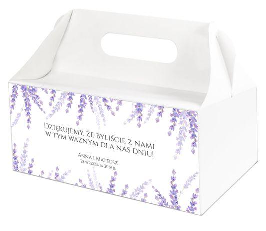 Pudełka na ciasta weselne LAWENDA