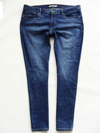Levis piękne modne ciemne jeansy rurki 46/48