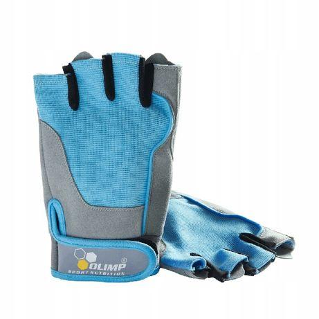 Rękawice fitness Olimp niebieskie L NOWE