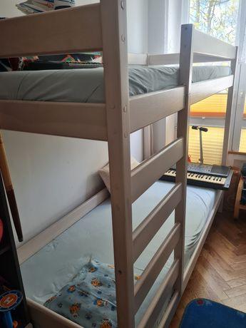 Łóżko piętrowe z szufladami