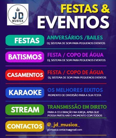 Dj | Musica | karaoke para: Festas, arraiais, casamentos, batismos