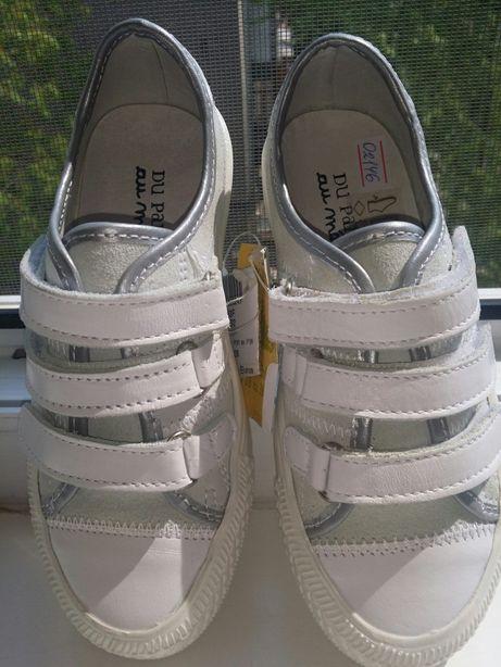 Кожаные кроссовки-мокасины марки-Du Pareil
