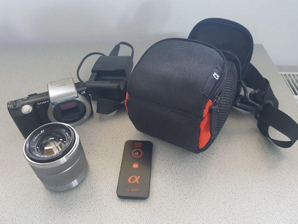 Sony NEX-5 NEX5 + obiektyw + torba + zdalne sterowanie