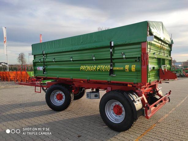 Przyczepa rolnicza PRONAR PT610 paletowa wywrotka 10T nadstawy gratis