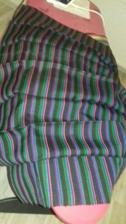 fartuch w stylu lowickim, recznie wykonany na krosnach, nie używany