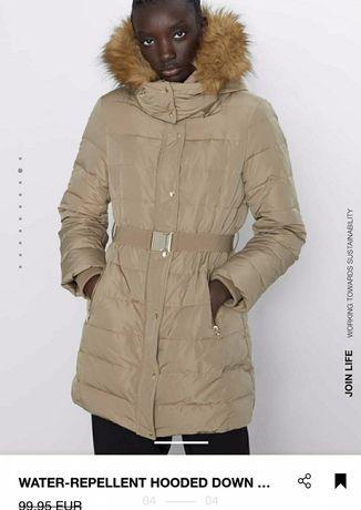 Zara куртка пальто viber O999OЧОІОЗ с пряжкой золотой цвет