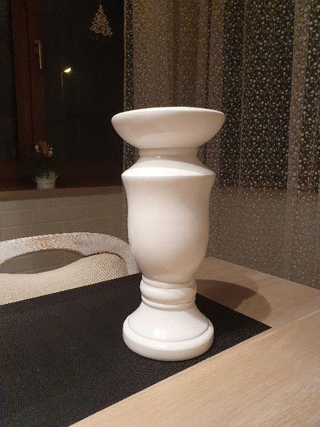 Świecznik biały 30 cm