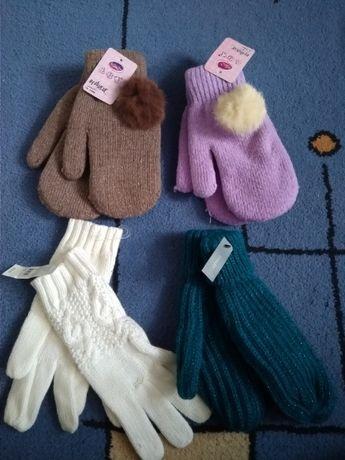 Новые тёплые варежки и перчатки