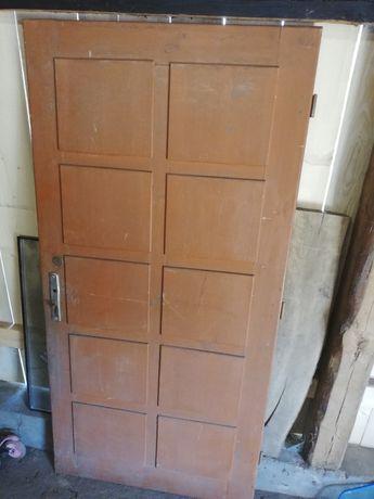 Drzwi stare drewniane prl