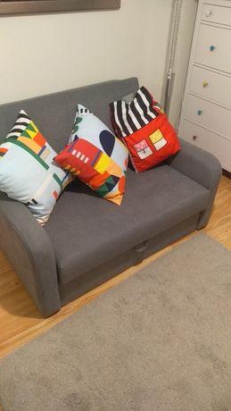 Kanapa, sofa, sofka, mini łóżko, siwa, szara