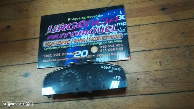 Painel instrumentos Conta Km Quadrante Nissan Sunny-94-1.7D